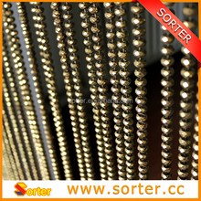 Metallic bronze colored plastic/acrylic ball chain screen curtain