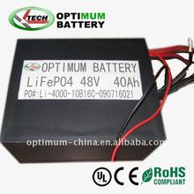 electric cars/motorcycles/scooters/tricycles LiFePO4 battery pack 48V 40Ah with suitable BMS, matched suitable case