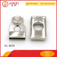 High end metal locks with nickel plate for handbag decoraction