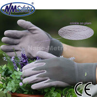 NMSAFETY grey garden safety rubber gloves