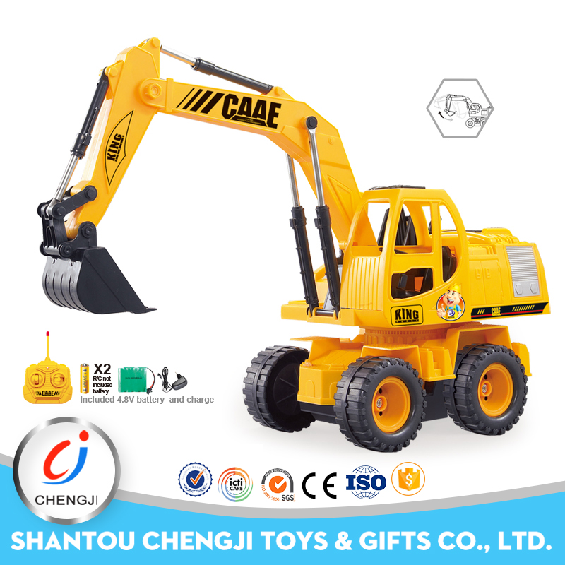 Wire Control 5 channel 1:24 caterpillar track kids radio control excavator toys
