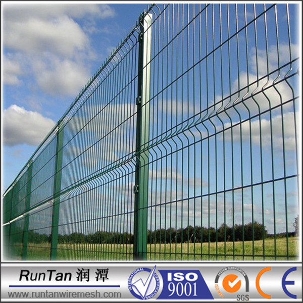 3d Pvc Coated Fold Welded Mesh Fencing Panel In Steel Wire Mesh ...