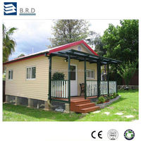 China made steel frame house keel structure fast build prefabricated villa