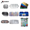 Car front window sunshade,aluminum car sun visor,foldable car sunshade