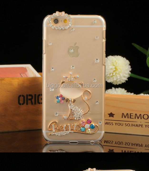 Crystal Case for iPhone 6 Plus,For iPhone 6 Cell Phone Transparent Hard Diamond Bling Case