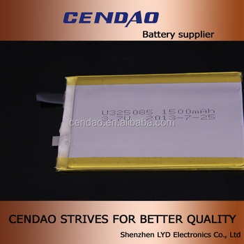 3g tablet pc battery polymer battery 3.7v 1500mah 325085 dimension polymer battery