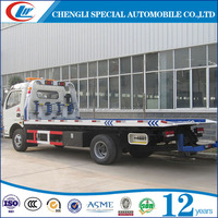 Dong Feng 4x2 Flatbed Slide Wrecker Truck 3 Ton Light Duty Road Recovery Truck For Sale