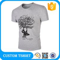 American Apparel T Shirt,Man Tshirt Blank Gray,Wholesale Organic Clothing