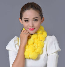 rabbit fur scarf/fashion rabbit necklace/2014 latest design fashion fake fur scarf