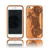 Wooden Mobile Phone Case With Motorcycle Design For iPhone 6 Case.