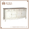 French Classic Solid Wood Furniture Antique White Sideboard