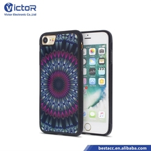 China market clear mirror + print pattern cell phone case fundas for iPhone 7