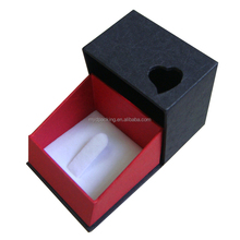Party favor red paper thin wedding nose ring box