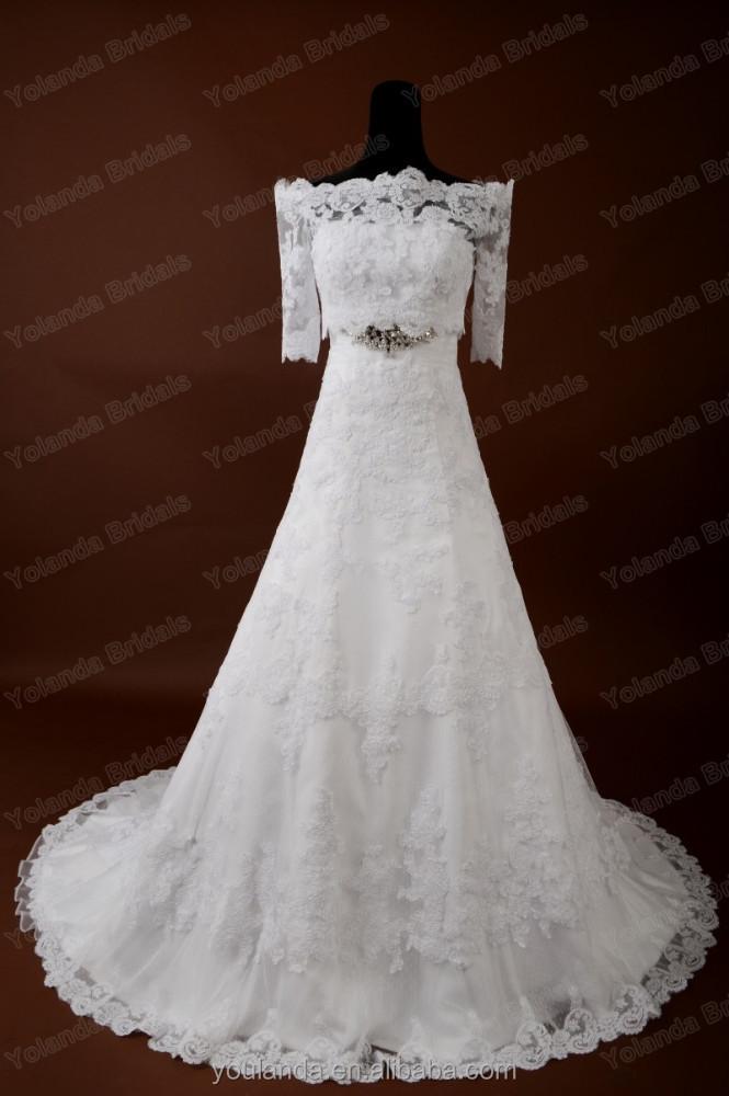 2017 spanish style white lace aline wedding dress buy for Spanish lace wedding dress