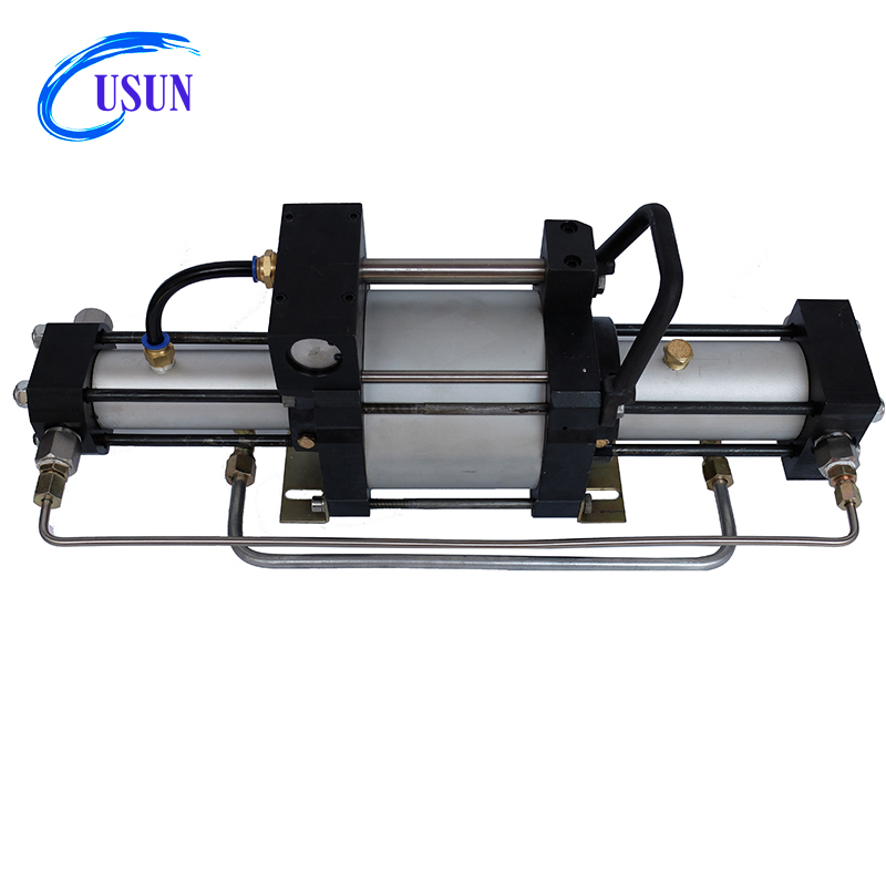 USUN Cheap Model:WST 200-800 Bar output pressure small double stage helium gas pressure booster pump