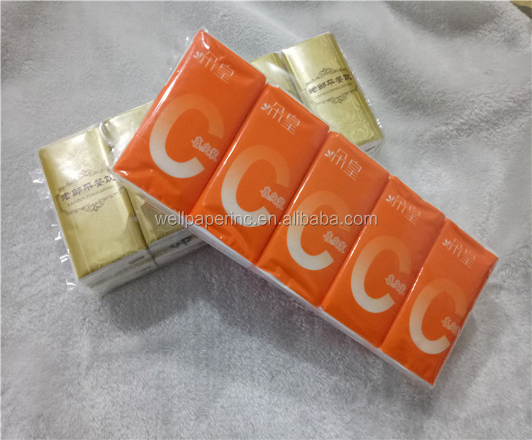 Promotional Custom Printed Pocket Pack Facial Tissue Standard 3ply 10pcs per pack