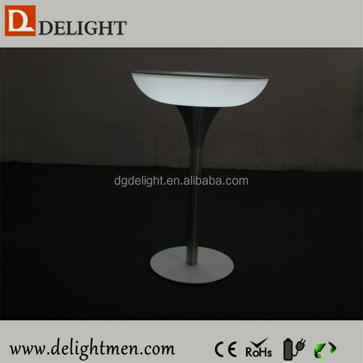 Outdoor color change led illuminated table/ led light bar table/ led round bar table sale
