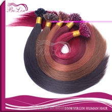 Qingdao retail top quality straight brazilian virgin hair u-tip/nail tip fusion hair extensions