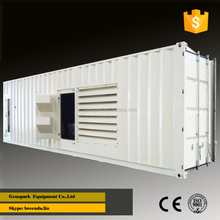 3 phase 60Hz 440V Container type 1.5 mw Diesel Generator