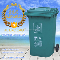 JIE BAOBAO! FACTORY MADE PLASTIC HDPE 240L HIGH QUALITY RECTANGLE ACRYLIC WASTEBASKETS