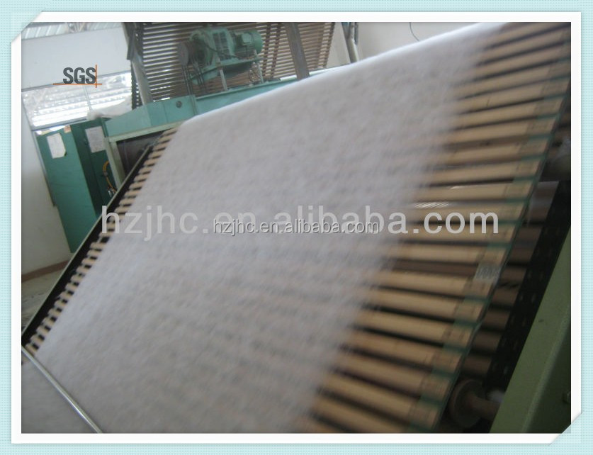 hot air throughFactory supply Eco-friendly nonwoven 100%camel hair wadding for quilt