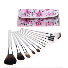 Beauty Tools Nylon Makeup Brushes With Gift Bag 12pc Pincel Maquiagem Make Up Brushes