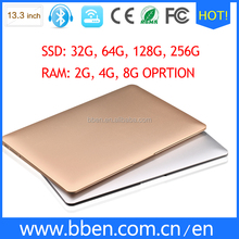 13.3inch Laptop i5 core notebook computer with 4G/128G 1920*1080 resolution built in wifi,3G