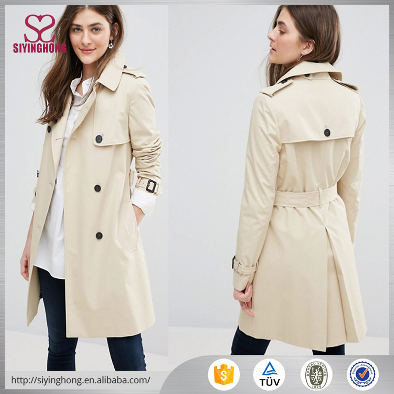 2017 Best selling new design autumn women trench coat