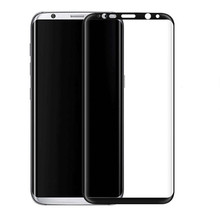 Hot Bending 3D Curved Full Covered Silk Print Tempered Glass Screen Protector for Samsung Galaxy S8 S8 Plus