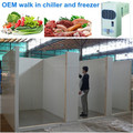 OEM walk in chiller and freezer to store vegetable and meat