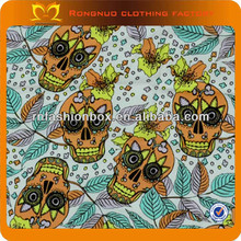 New skull printed fabric indonesia cotton printed fabric print cotton fabric wholesale