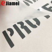 Screen printing flat silicone heat transfer labels for clothing