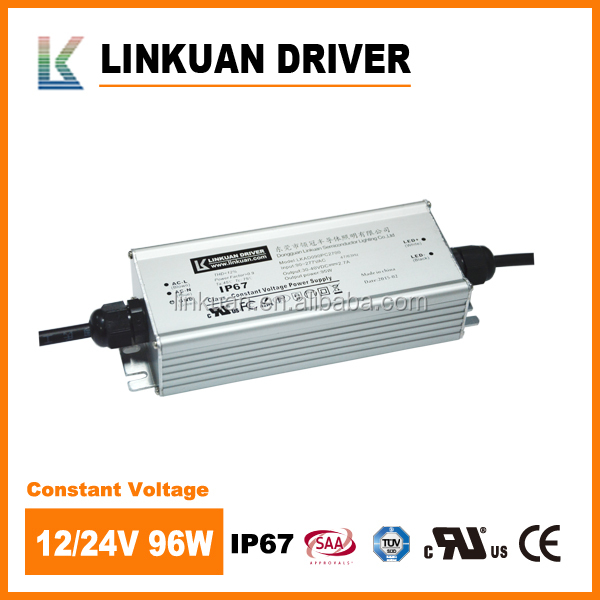 100w 12v constant voltage 0-10v PWM dimmable waterproof led power driver