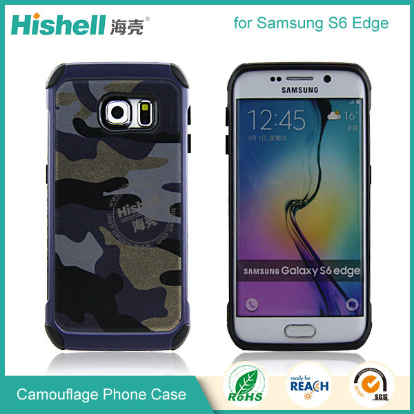 TPU and PC two in one camouflage case for Samsung S6 edge cover