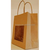 Brown Food Package Kraft Paper Bag With Clear Window