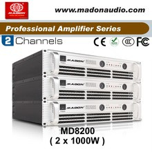 MD8200 class H professional power amplifier with symmetrical ,1000W mosfet stereo output 2channels high power amplifier