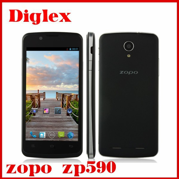 Cheap original Zopo zp590 Mtk6582 Quad core dual sim gps play store androd 4.4 mobile phone