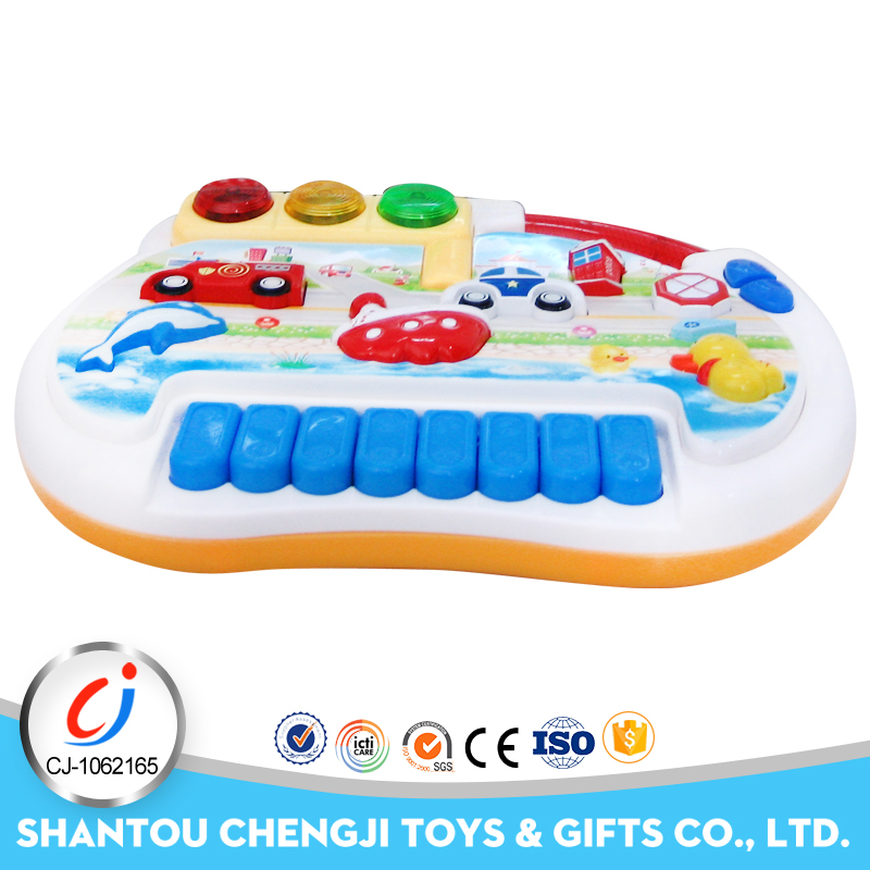 Funny plastic musical instrument electric kid toy piano with music