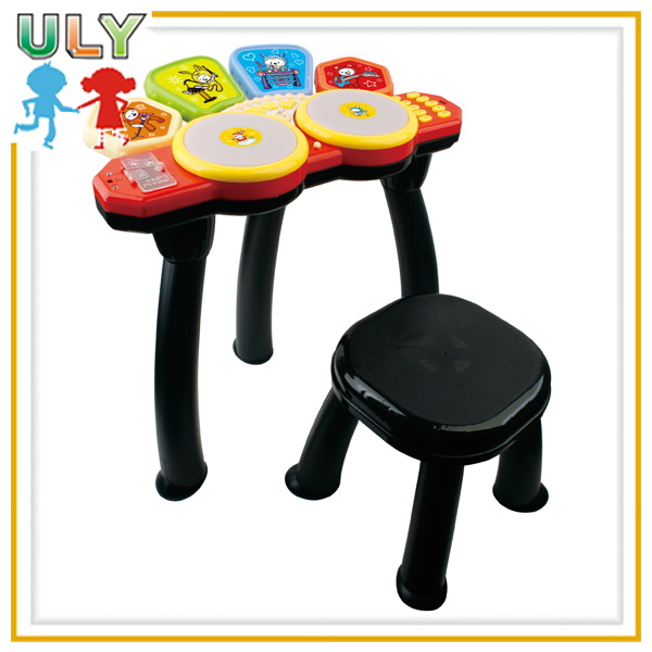 Milifunction electronic organ drum musical toy with microphone,chair knock combination