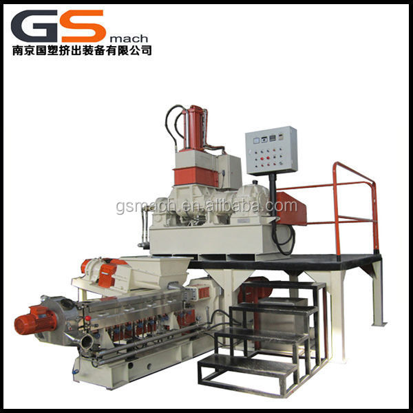 China factory direct 35L kneader mixing pelletizng line applied to color master batch