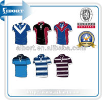 SUBTS-790 big men casual sublimated striped polo t shirts