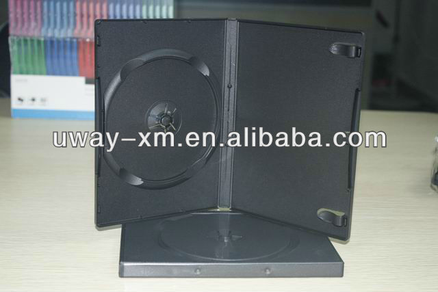 14mm black machine packing dvd case for single disc/ auto machine packing dvd box