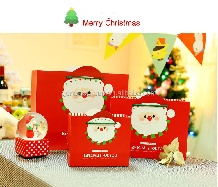China fancy christmas paper gift bags supplier
