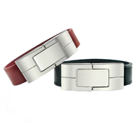 New High Speed Leather Bracelet Usb Flash Drive Pen Drive 4gb 8gb with Custom Logo