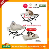 Metal Iron Dog Beds with Removable Cushion