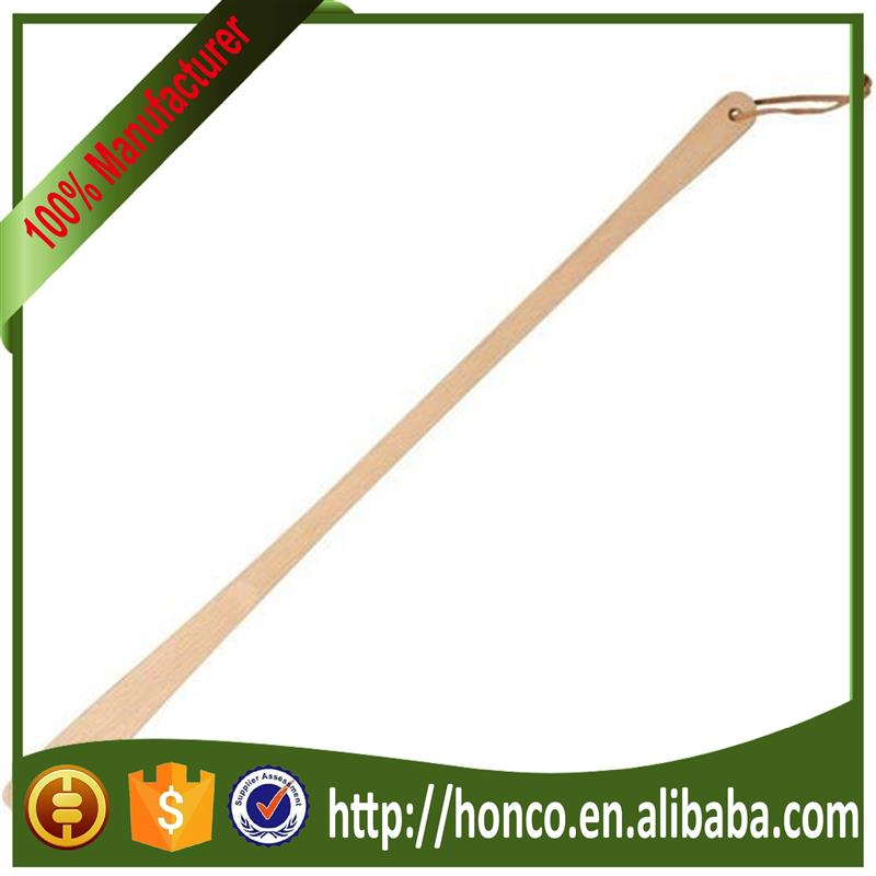 2016 long wooden shoe horn for wholesales no