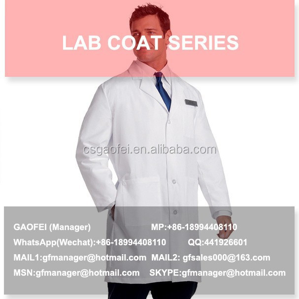2015 hot sell lab coats wholesale for children for lab using