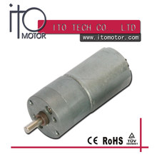 25mm mirco gear motor 6v dc low RPM / GM25-370 25mm dc gear motor /25mm spur gear head pm dc motor