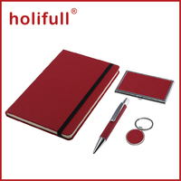 2016 customized logo plain color leather pen set corporate gift ideas