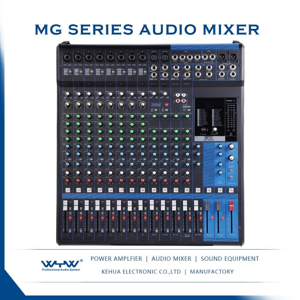 MG series 4 stereo audio mixers